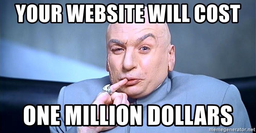 Website Costs 1 Million Dollars